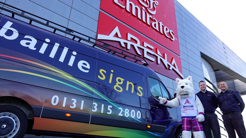 All signs point towards Emirates Arena as Baillie Signs become the latest addition to the Glasgow 2019 team